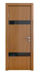 Межкомнатная дверь Дверная Линия ДО-502 Анегри тёмный стекло чёрное