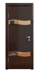 Межкомнатная дверь Дверная Линия ДО-503 Венге глянец зеркало бронза