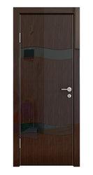 Межкомнатная дверь Дверная Линия ДО-503 Венге глянец стекло чёрное
