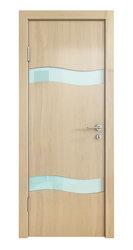 Межкомнатная дверь Дверная Линия ДО-503 Анегри светлый стекло белое матовое