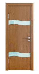 Межкомнатная дверь Дверная Линия ДО-503 Анегри темный стекло белое матовое