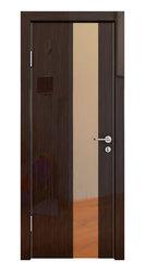 Межкомнатная дверь Дверная Линия ДО-504 Венге глянец зеркало бронза
