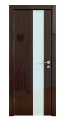 Межкомнатная дверь Дверная Линия ДО-504 Венге глянец стекло белое матовое
