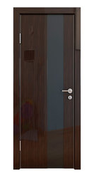 Межкомнатная дверь Дверная Линия ДО-504 Венге глянец стекло чёрное