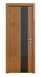 Межкомнатная дверь Дверная Линия ДО-504 Анегри тёмный стекло чёрное