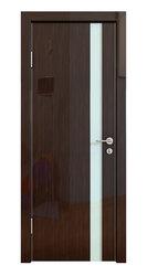 Межкомнатная дверь Дверная Линия ДО-507 Венге глянец стекло белое