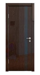 Межкомнатная дверь Дверная Линия ДО-507 Венге глянец, стекло чёрное