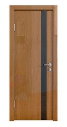 Межкомнатная дверь Дверная Линия ДО-507 Анегри тёмный стекло чёрное