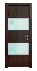 Межкомнатная дверь Дверная Линия ДО-508 Венге глянец стекло белое
