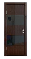 Межкомнатная дверь Дверная Линия ДО-508 Венге глянец стекло черное