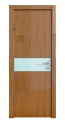 Межкомнатная дверь Дверная Линия ДО-509 Анегри тёмный стекло белое матовое