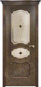 Дверь остекленная Барселона Дуб Коньячный