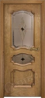Дверь остекленная Барселона Дуб золотистый