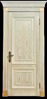Дверь Альверо Екатерина, Беленый дуб браш золото