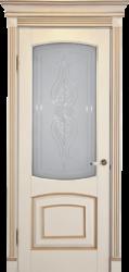 Межкомнатная дверь Альверо ДО Елена, Белый Бук с Золотом