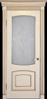 Дверь Альверо ДО Елена, Белый Бук с Золотом