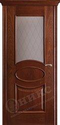 Дверь остекленная Эллипс Красное дерево