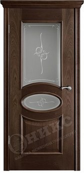 Дверь остекленная Эллипс Палисандр