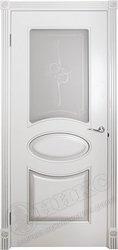 Дверь остекленная Эллипс фрезерованное эмаль белая