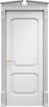 Дверь ОЛ 7.2 Белая эмаль