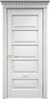 Дверь ОЛ 44 Белая эмаль
