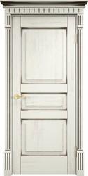 Межкомнатная дверь Итальянская легенда Дуб Д5 Эмаль F120+чёрная патина