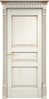 Дверь Д 5 Эмаль F120 патина золото