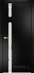 Дверь рондо эмаль черная по ясеню
