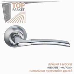 Ручка дверная на круглой накладке Fino A-13-10 Матовый хром