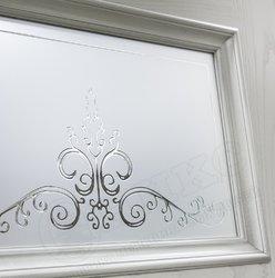 Дверь остекленная Прованс Паитна серебро контурный витраж