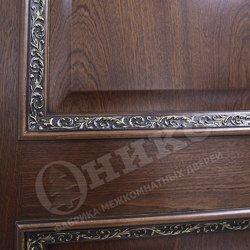 Дверь Прованс Красное дерево черная патина декор флора