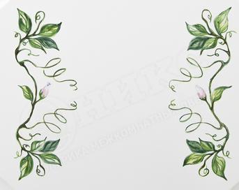 Дверь Валенсия Белая эмаль Сложная роспись