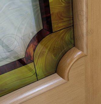 Дверь остекленная Палермо красное дерево витраж