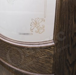 Дверь остекленная Рига Дуб коньячный контурный витраж