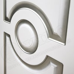 Дверь Рада фрезерованное эмаль белая фреза простая