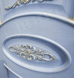 Дверь Эллипс с Декором эмаль голубая