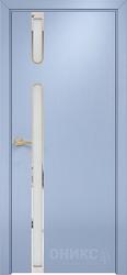 Дверь рондо эмаль голубая по ясеню