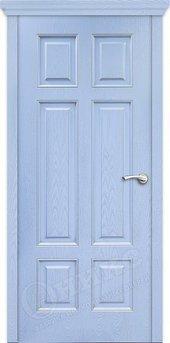 Дверь Гранд фрезерованное эмаль голубая