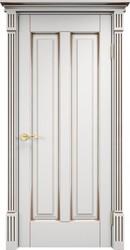 Дверь ОЛ 102 Белый Грунт патина орех