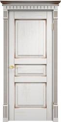 Дверь Д 5 Белый грунт патина орех