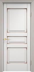 Межкомнатная дверь Итальянская легенда Ольха 05 Белый грунт+патина орех
