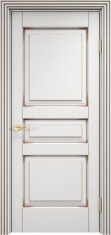 Дверь ОЛ 5 Белый грунт патина орех