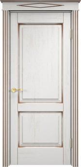 Дверь Д 13 Белый грунт патина орех