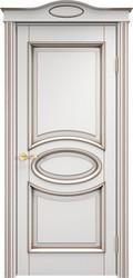 Дверь ОЛ 26 Белый грунт патина орех