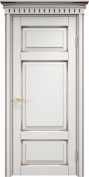 Межкомнатная дверь Итальянская легенда Ольха 55 Белый грунт+патина орех