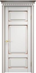 Дверь  ОЛ 55 Белый грунт патина орех