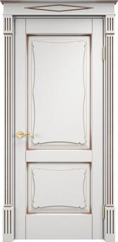 Дверь ОЛ 6.2 Белый грунт патина орех