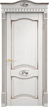 Дверь Д 3 Белый грунт патина орех
