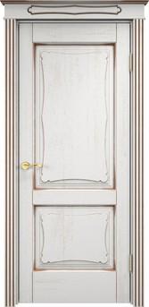 Дверь Д 6/2 Белый грунт патина орех