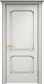 Дверь ОЛ 7.2 Грунт патина серебро микрано